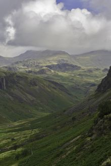 U shaped valley in the lake District, UK
